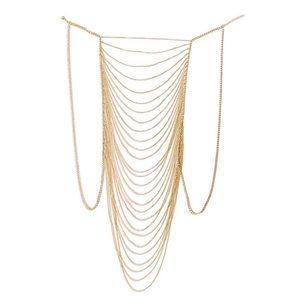 Crossover Bikini Body Chain Necklace